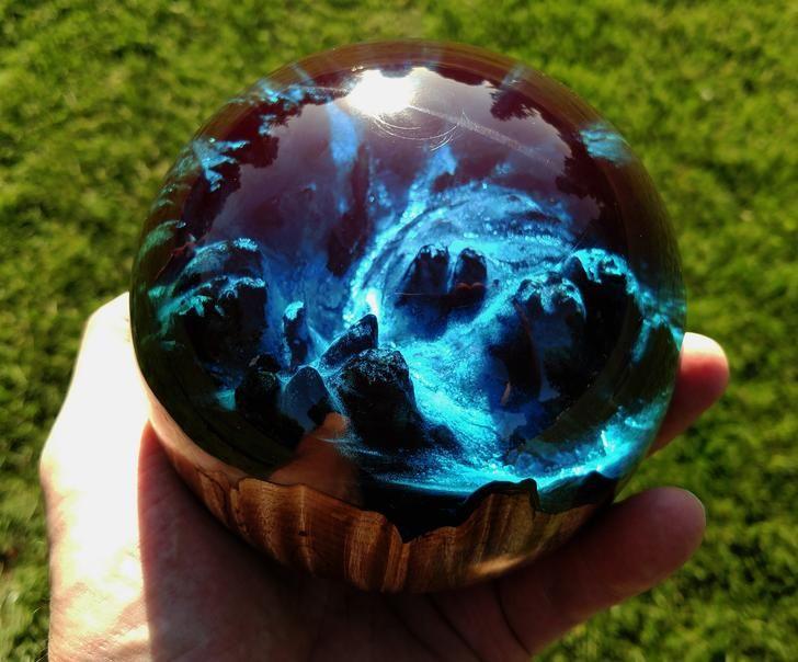 Hybrid Turnings Epoxy Resin Wood Resin In Wood Diy