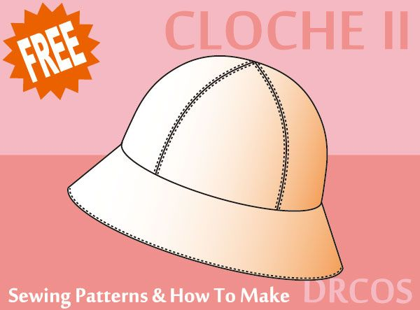 Cloche Sewing Patterns How To Make Hat Patterns Pinterest Extraordinary How To Make Sewing Patterns