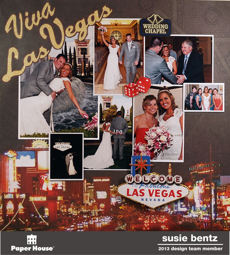 Scrapbook ideas las vegas -  Papercraft Scrapbook Layout Las Vegas Wedding Paper House
