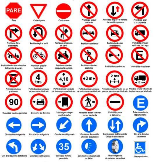 Video Curso Licencia B Tema 15 Señalización De Tránsito Chile Señales Reglamentarias 3ª Parte Señales De Transito Simbolos De Transito Señales De Tráfico
