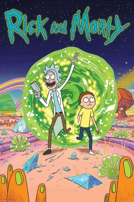 Rick And Morty Tv Show Poster Print Portal Size 24 X 36 Walmart Com Rick And Morty Poster Rick And Morty Season Watch Rick And Morty