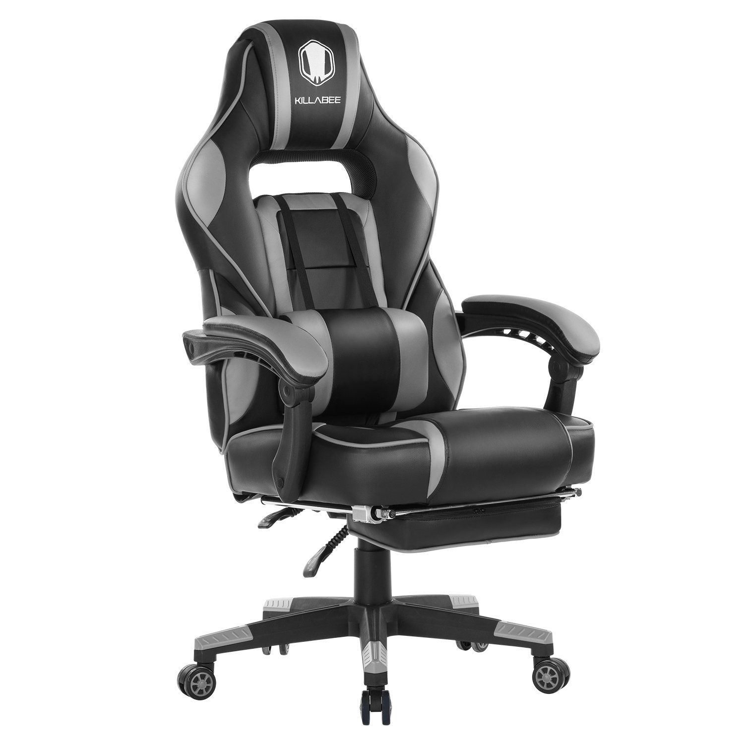Brilliant Killabee 9015 Gray Gaming Chair Products In 2019 Gaming Caraccident5 Cool Chair Designs And Ideas Caraccident5Info
