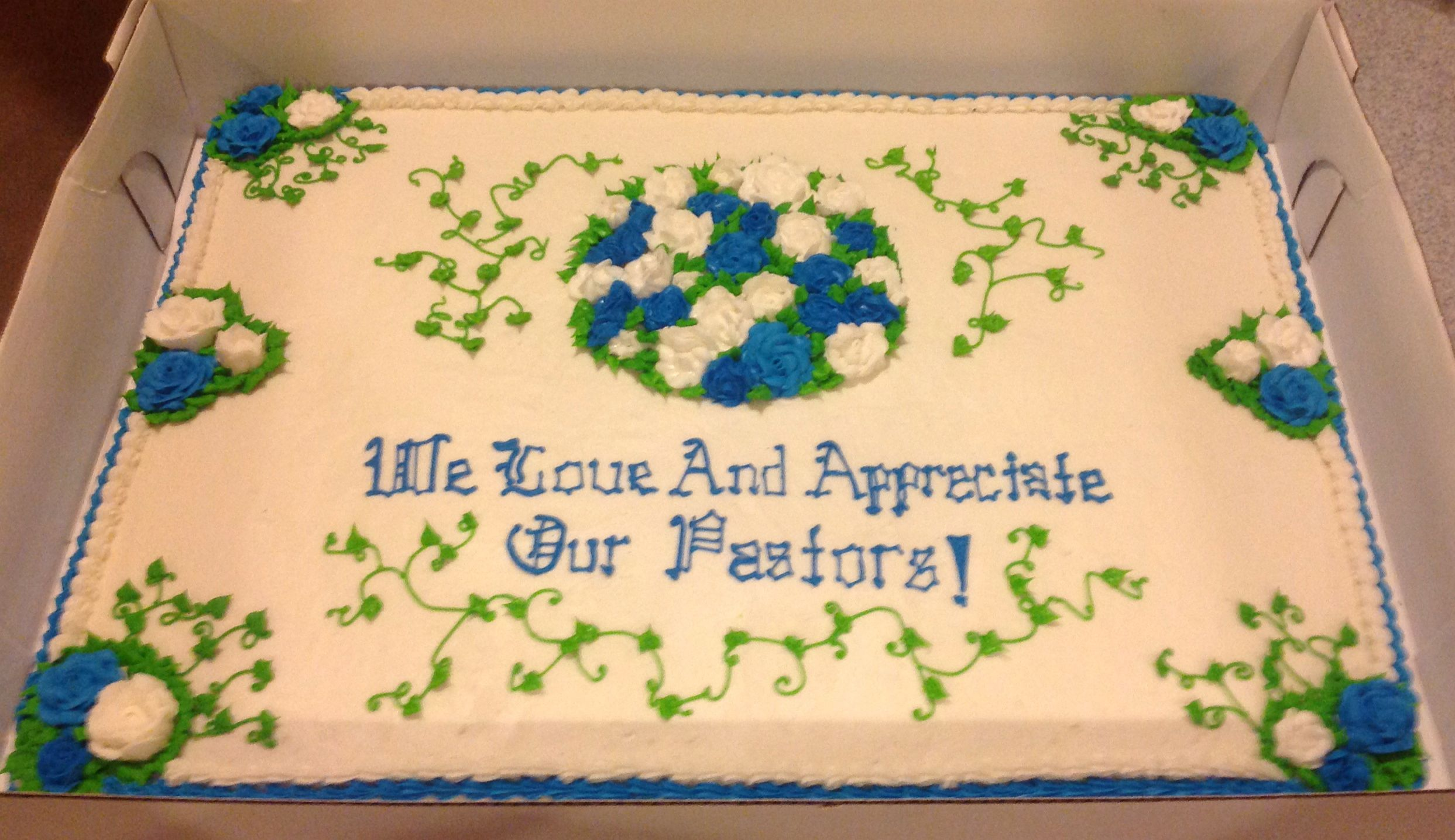 Pastor Appreciation Cake Cakes And
