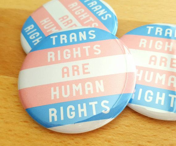 CHOICE OF 3 SIZES 1 x Transgender Pride Flag pin badge button or magnet