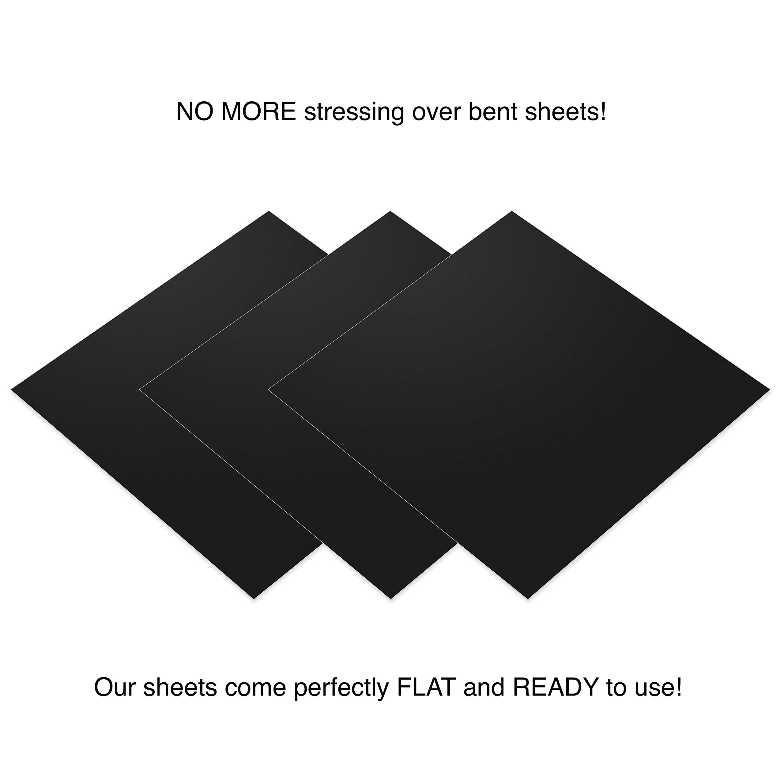 Permanent Matte Black Vinyl Sheets Better Than Vinyl Rolls Ez Craft Usa 12 X 12 40 Matte Adhesive Backed Sheets Wo Vinyl Rolls Black Vinyl Vinyl Sheets