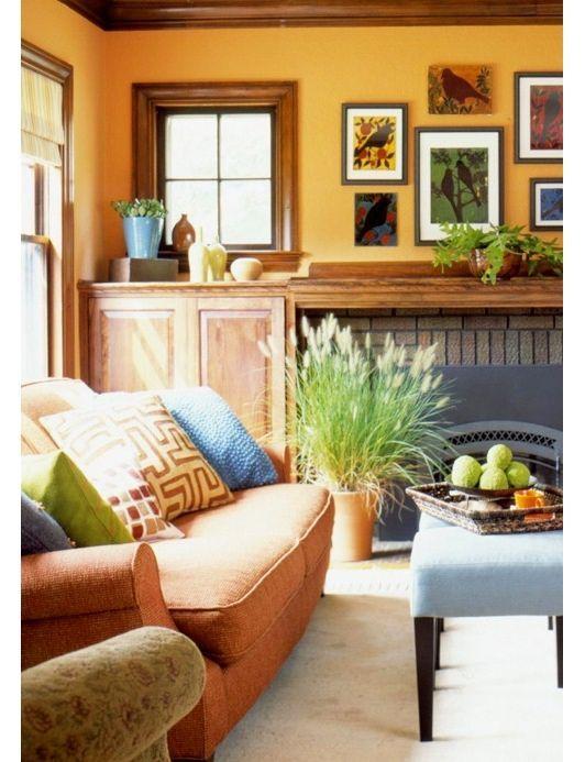 wonderful orange black bedroom ideas | Wonderful colors in this living room #HomeOwnerBuff ...