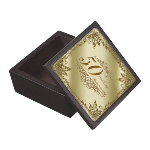 50th Wedding Anniversary Gift Box Zazzle Com 50 Wedding Anniversary Gifts Wedding Anniversary Photo Gifts 50th Wedding Anniversary