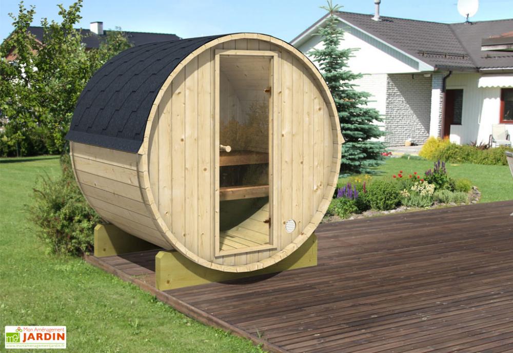 Sauna Exterieur Tonneau En Bois 2 3 Personnes 200 Cm Terrace