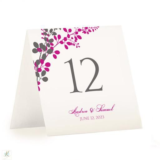Table Number Template Exquisite Vines Tent (Charcoal  Begonia - Download Numbers Spreadsheet For Mac