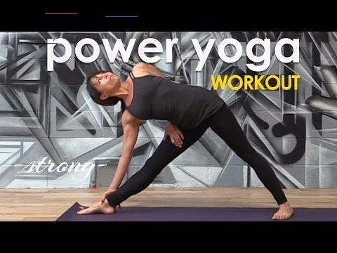 power yoga workout  simple strong cardio flow ♆