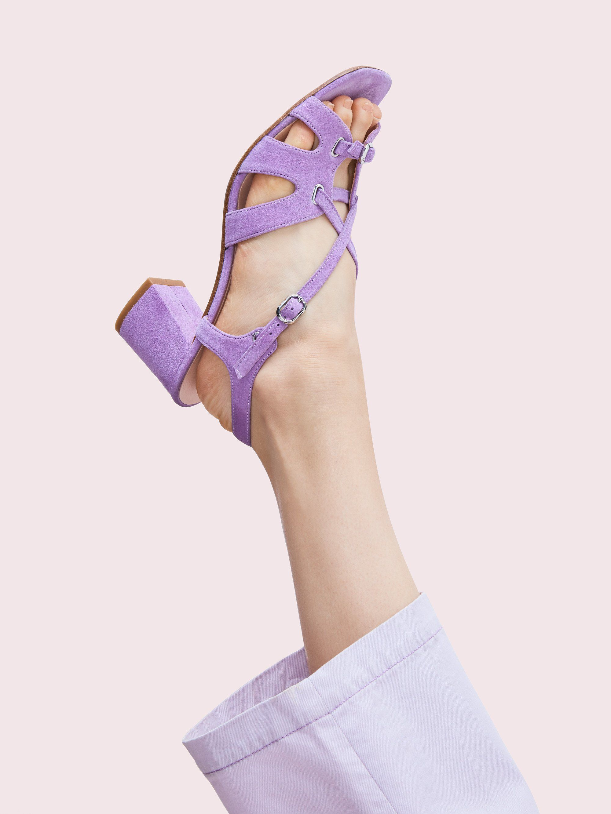 Strappy sandals, Chunky heels, Sandals