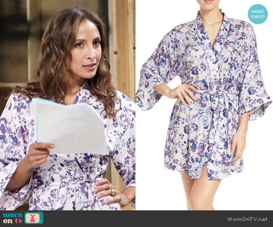 Lily s purple floral robe on The Young and the Restless. Outfit Details   https  c6fc3587db