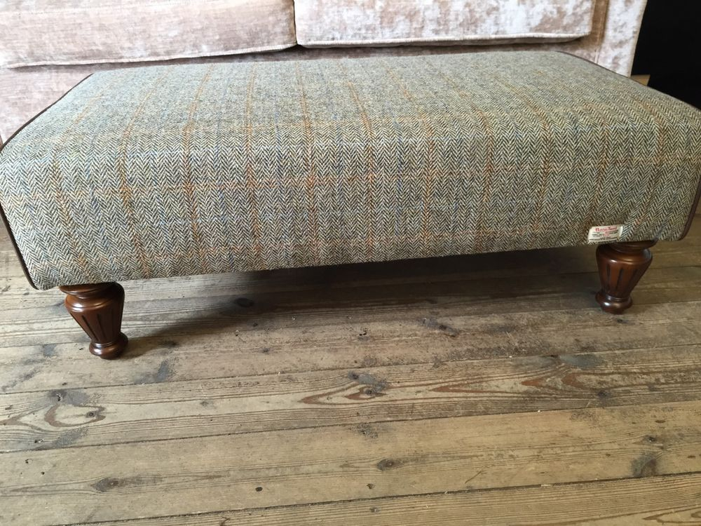 Large Footstool Harris Tweed Braemar NOT Barker And Stonehouse