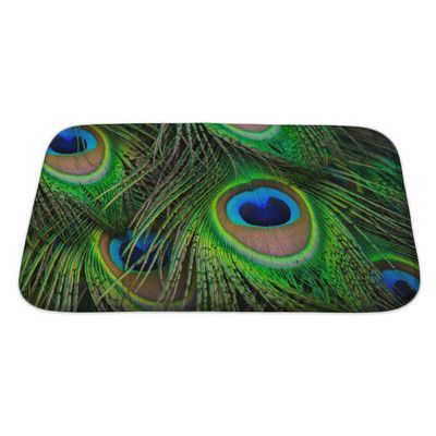 Gear New Animals Bright Peacock Feather Bath Rug Size: Large