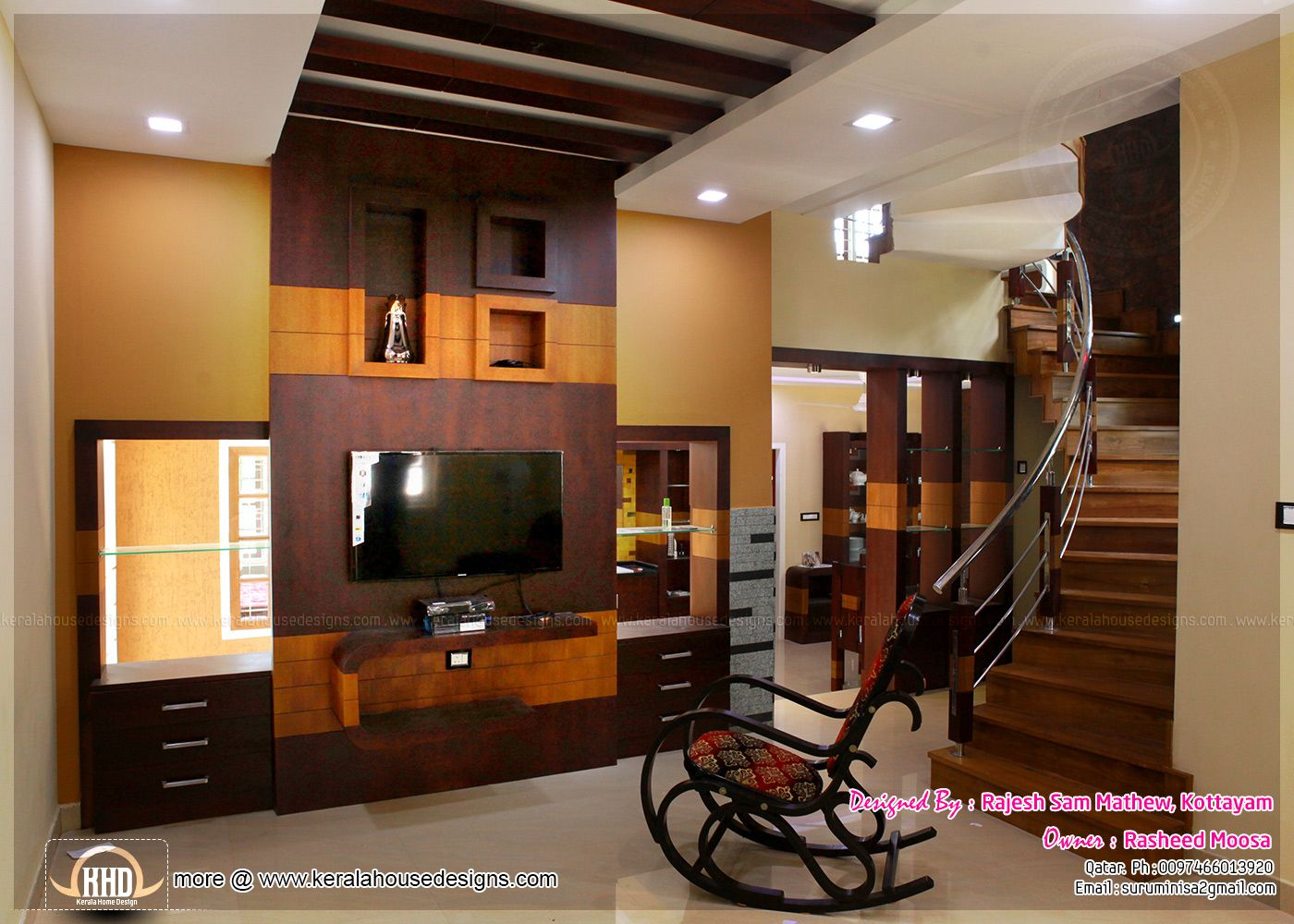 Living dining partition kerala google search interiors for Different interior designs of houses