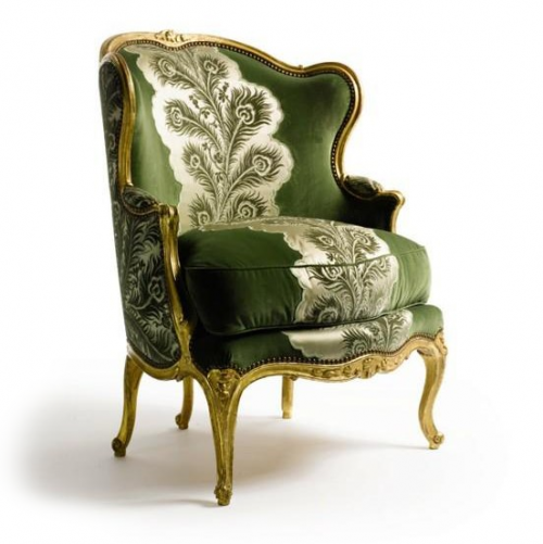 Exceptionnel French Chair With Pouffy Down Pillow. Gold Paint.