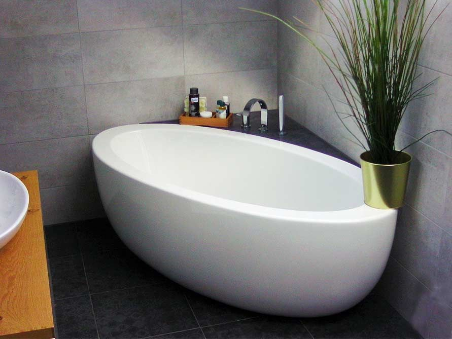 Freistehende Badewanne Cartagena Grande aus Acryl - weiß glänzend