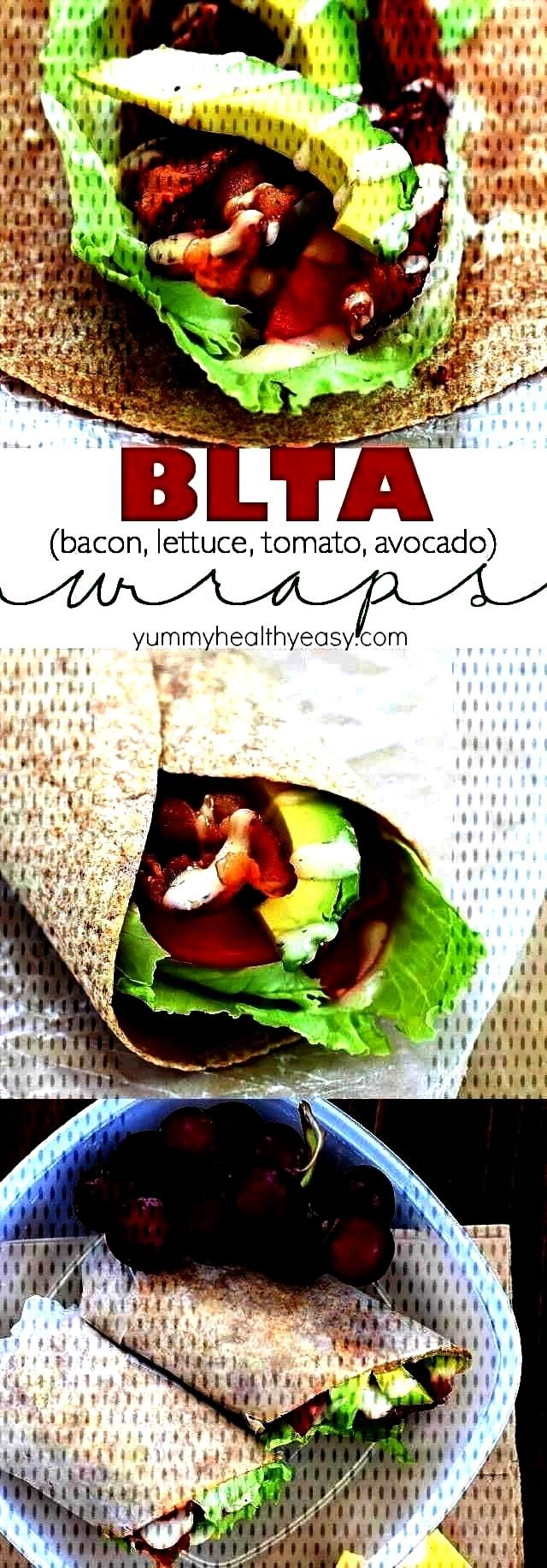 Wrap - Sick of boring lunches? You NEED to throw an easy BLTA wra... Best Ever BLTA Wrap - Sick of