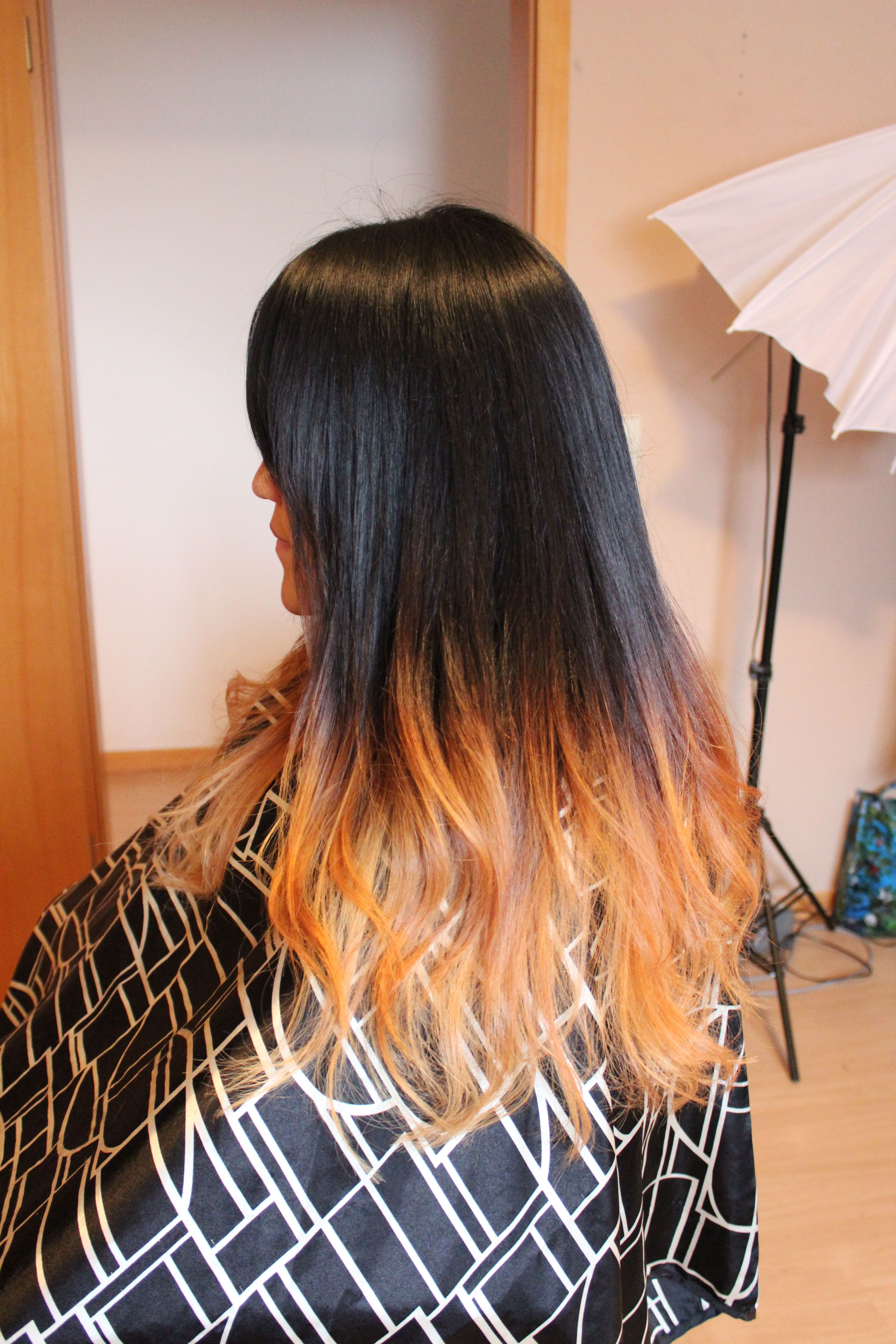 Black And Gold Ombre With Images Long Hair Styles Hair Styles