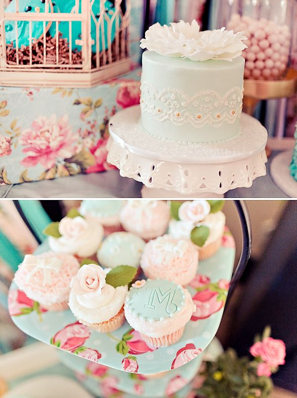 Lovely Vintage Rose Little Birdie Themed Party