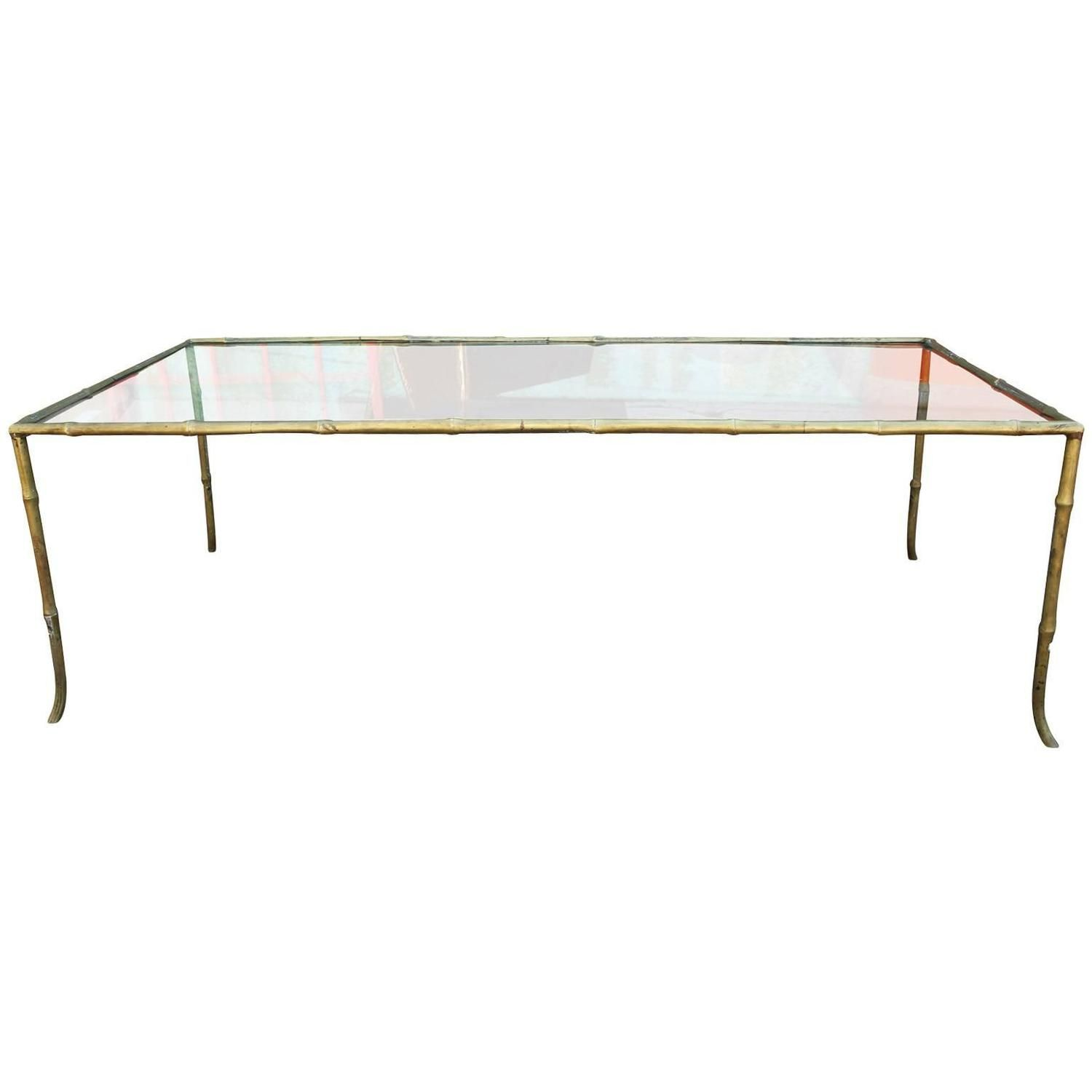Moder Brass And Glass Faux Bamboo Rectangular Coffee Table Rectangular Coffee Table Faux Bamboo Bamboo Coffee Table [ 1500 x 1500 Pixel ]