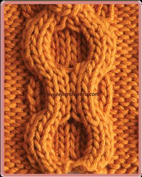 Trenza doble relieve ghh pinterest trenza doble - Cesta de cuerda y ganchillo ...