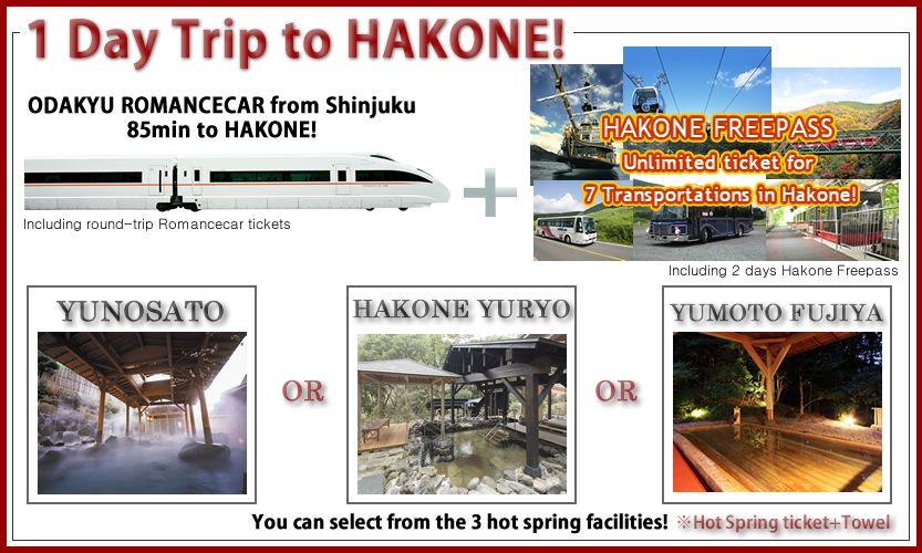Hakone -1 Day Trip Special Package