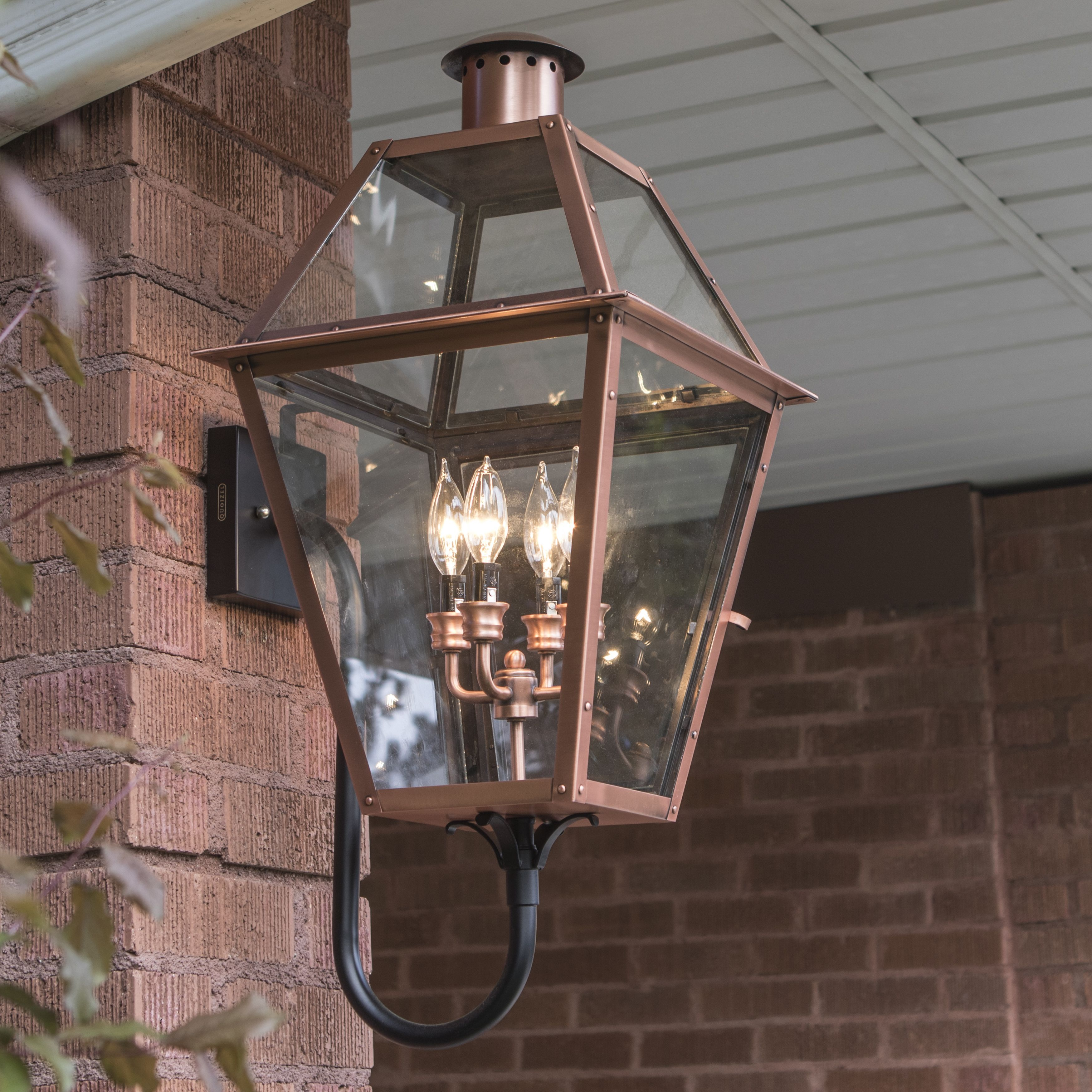 From the charleston copper lantern collection this piece gives you from the charleston copper lantern collection this piece gives you the historic look of gas lighting but without the hassle of a propane feed workwithnaturefo