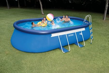 Intex 20 Ft X 12ft Oval 48in High Metal Frame Pool Easy Set Pools Intex Above Ground Swimming Pools