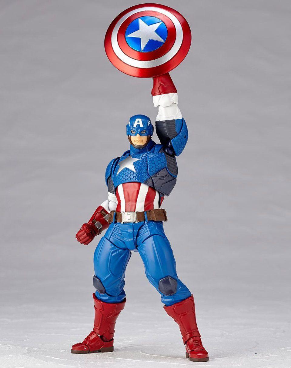 Action- & Spielfiguren Amazing Yamaguchi Revoltech Captain America No.007 Action Figur Figuren No Box