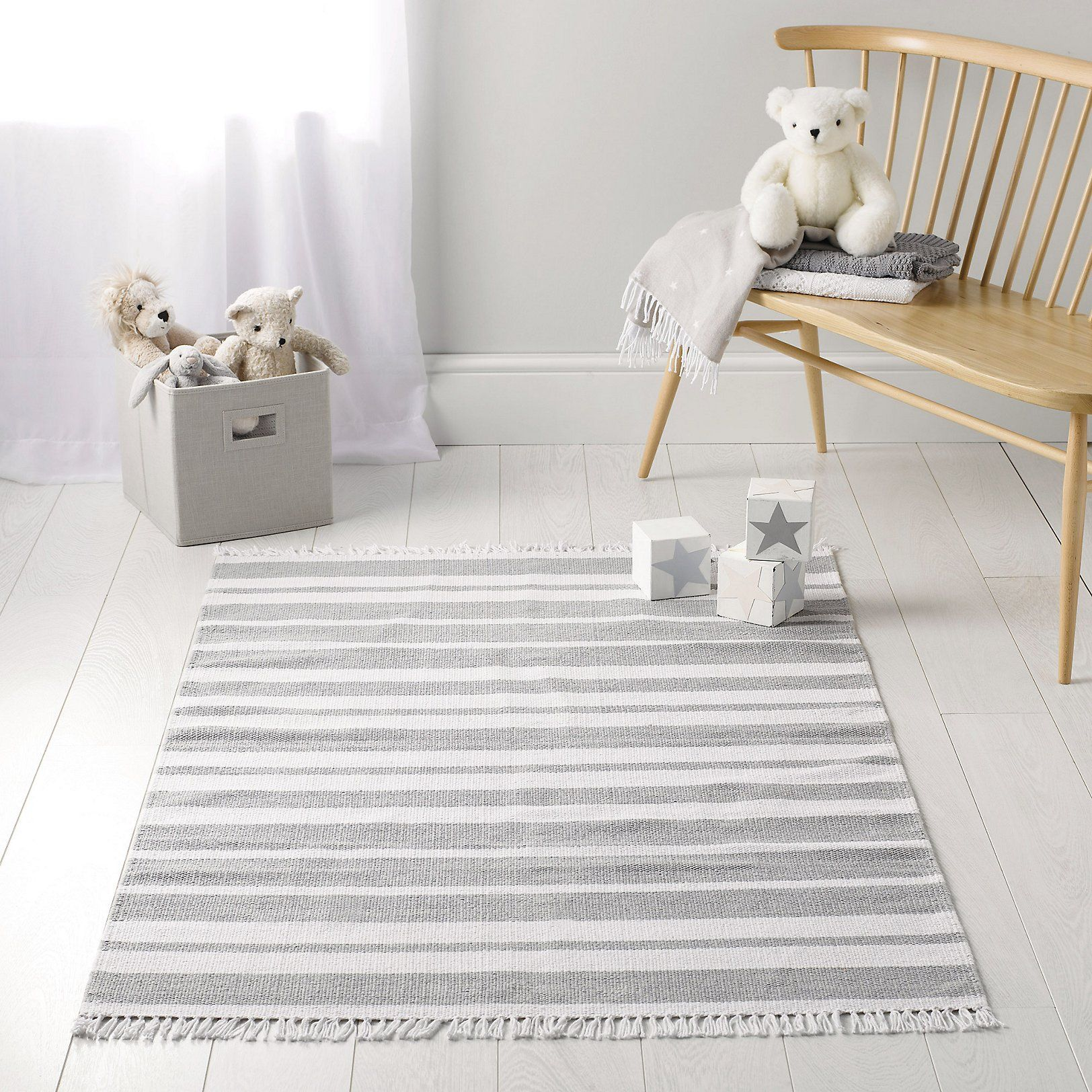 Grey Stripe Rug Bedroom Accessories Childrens The Little White Company