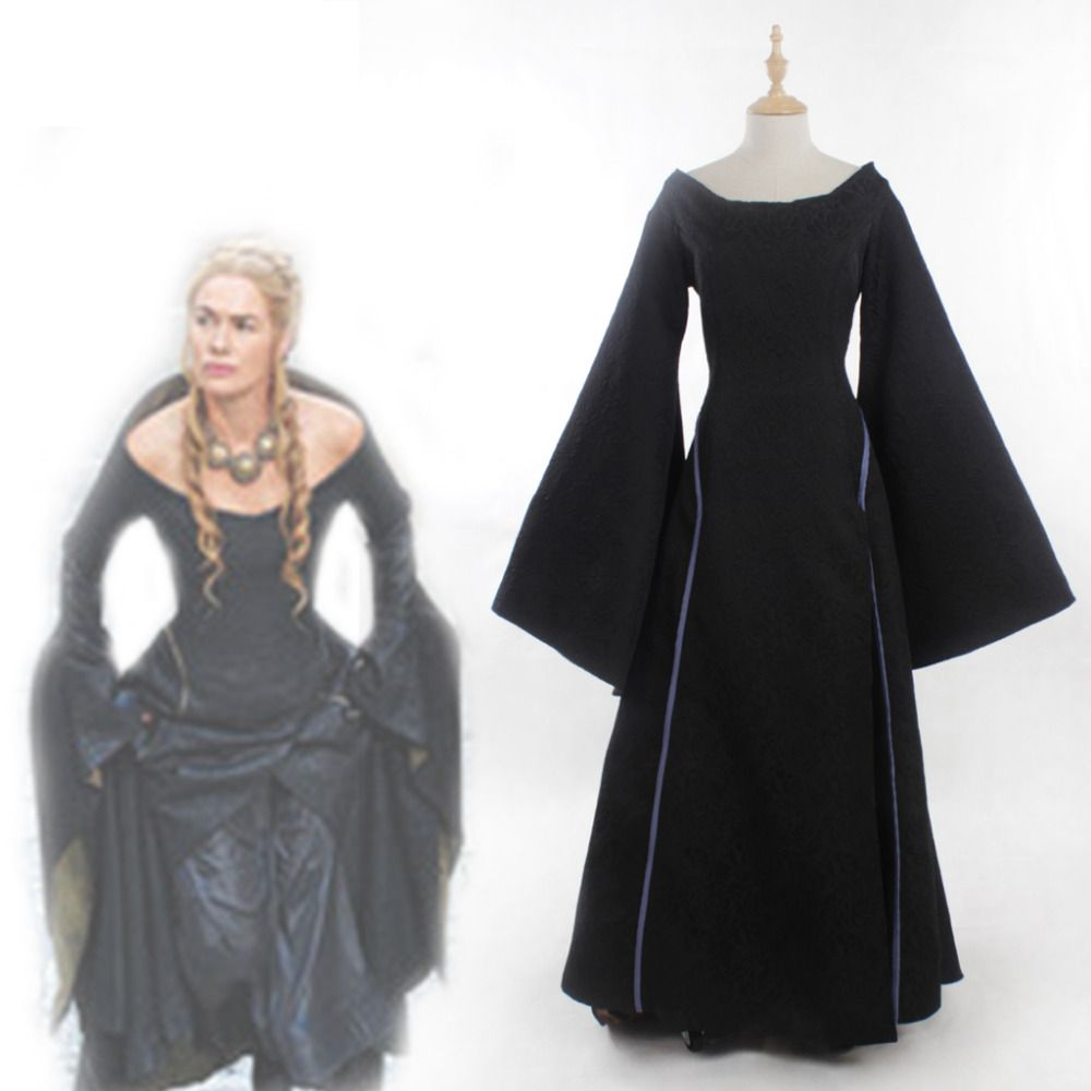 Game of Thrones Cosplay Cersei Lannister Black Medieval Renaissance ...