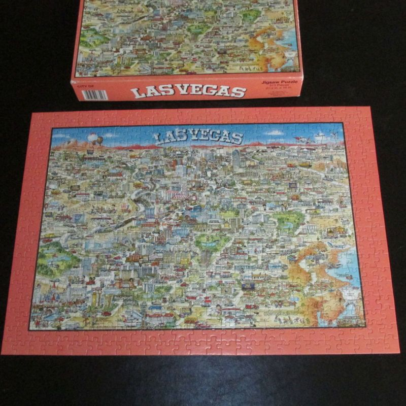 1991 Las Vegas City Map Jigsaw Puzzle
