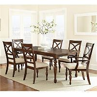 Caldwell Dining Set 7 Pc Traditional Dining Tables Dining