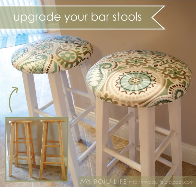My Boju Life DIY Bar Stool Upgrade- these look EXACTLY like my bar stools : counter stool covers - islam-shia.org