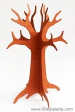 3d Paper Tree Template For Spring Family Tree Craft