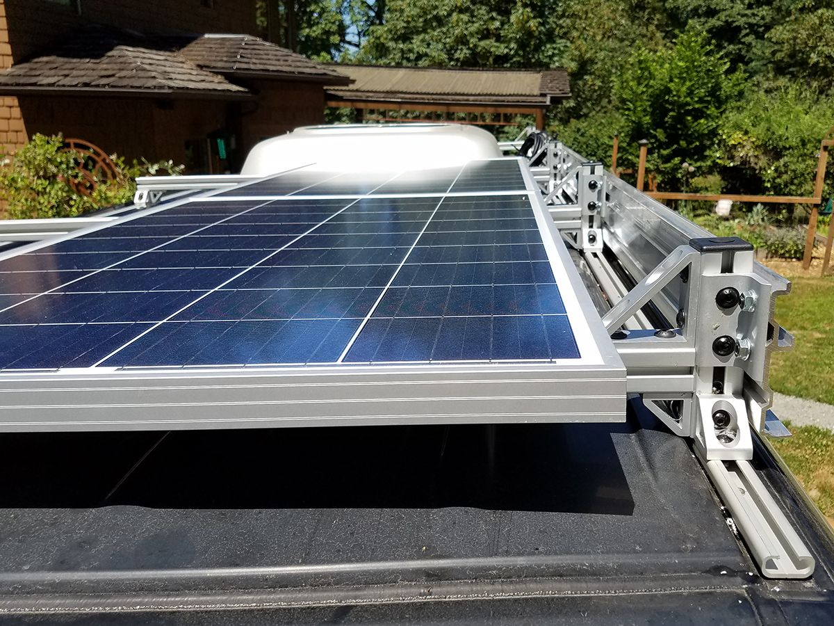 Custom Sprinter Conversion Maximize The Exterior Creatid Solar Panels Solar Panels Roof Rv Solar Panels