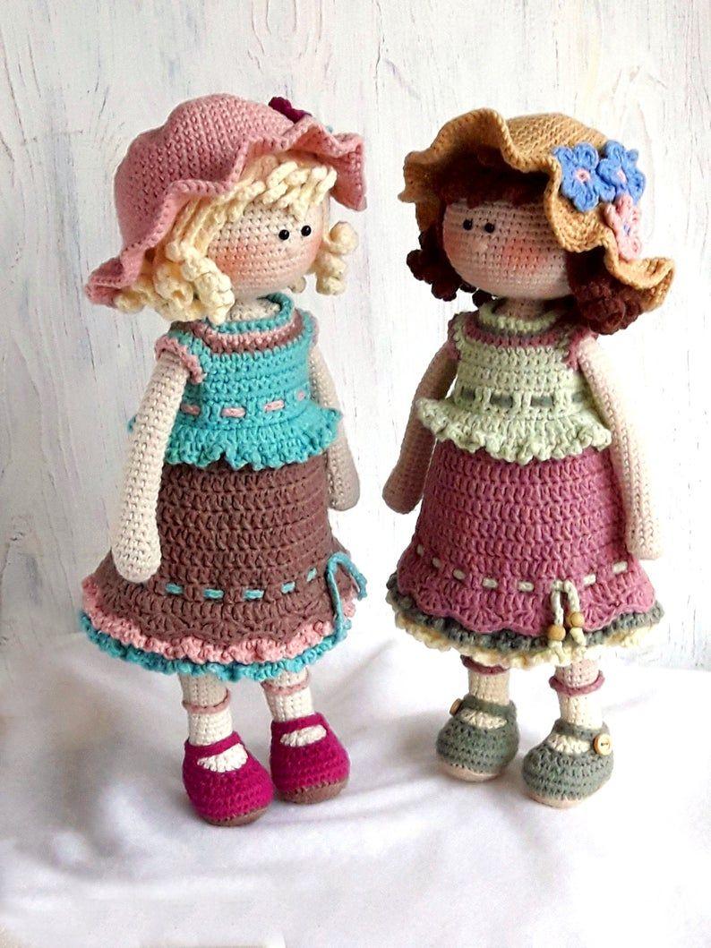 Boneca amigurumi/ boneca crochê (Angela) | Bonecas de crochê ... | 1059x794