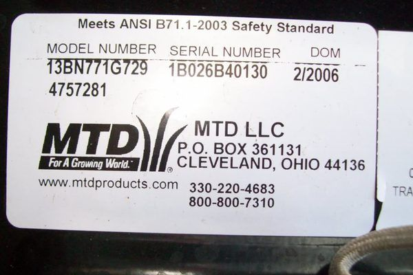 How to Decode MTD Model Numbers | Tips | Numbers, Decoding, Model