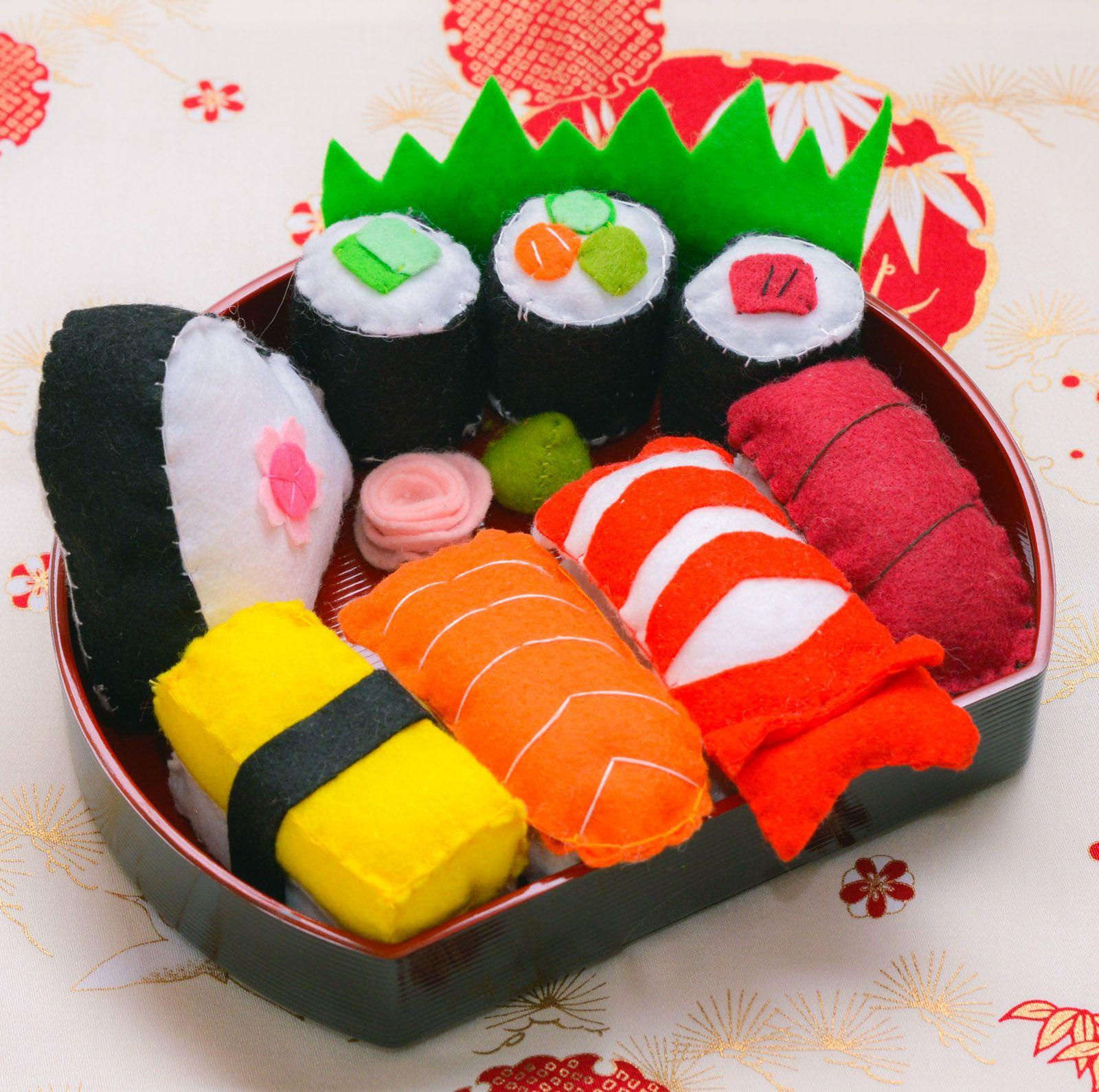 Sushi #thefeltgourmand #playfood #feltfood #handmade #singapore #sushi