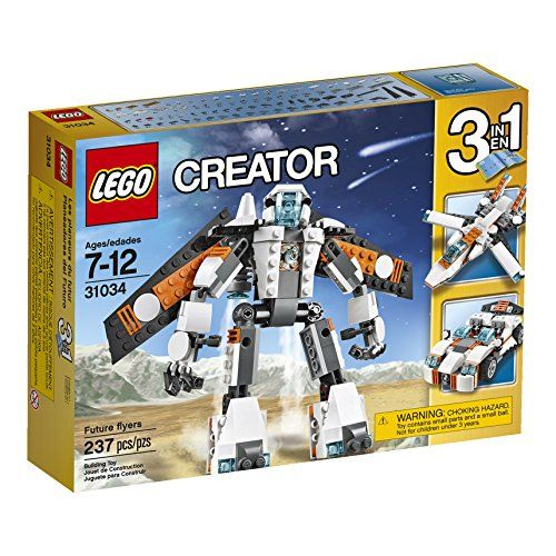 Step Into The Future With The Awesome 3 In 1 Lego Creator Future Flyers Robot This Robot Is Geared Up For Action And F Lego Creator Sets Lego Creator Buy Lego