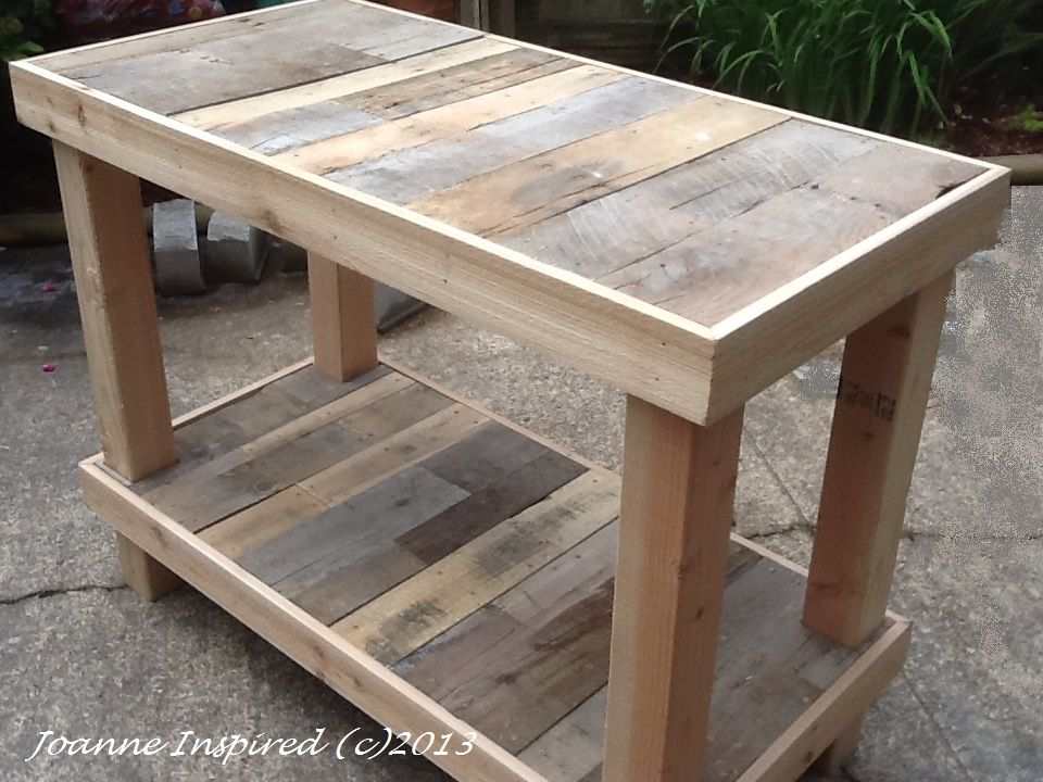Pallet Project: Kitchen Island / Work Table | Pallet projects ...