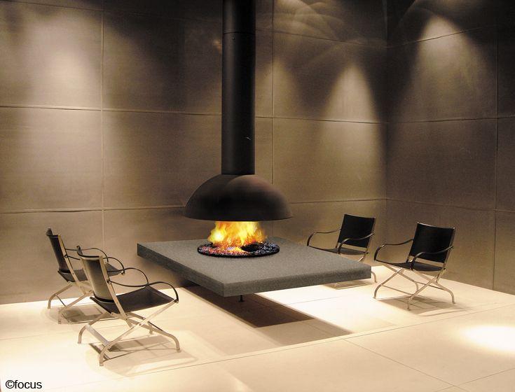 cheminee mezzofocus centrale suspendue #design contemporain ...