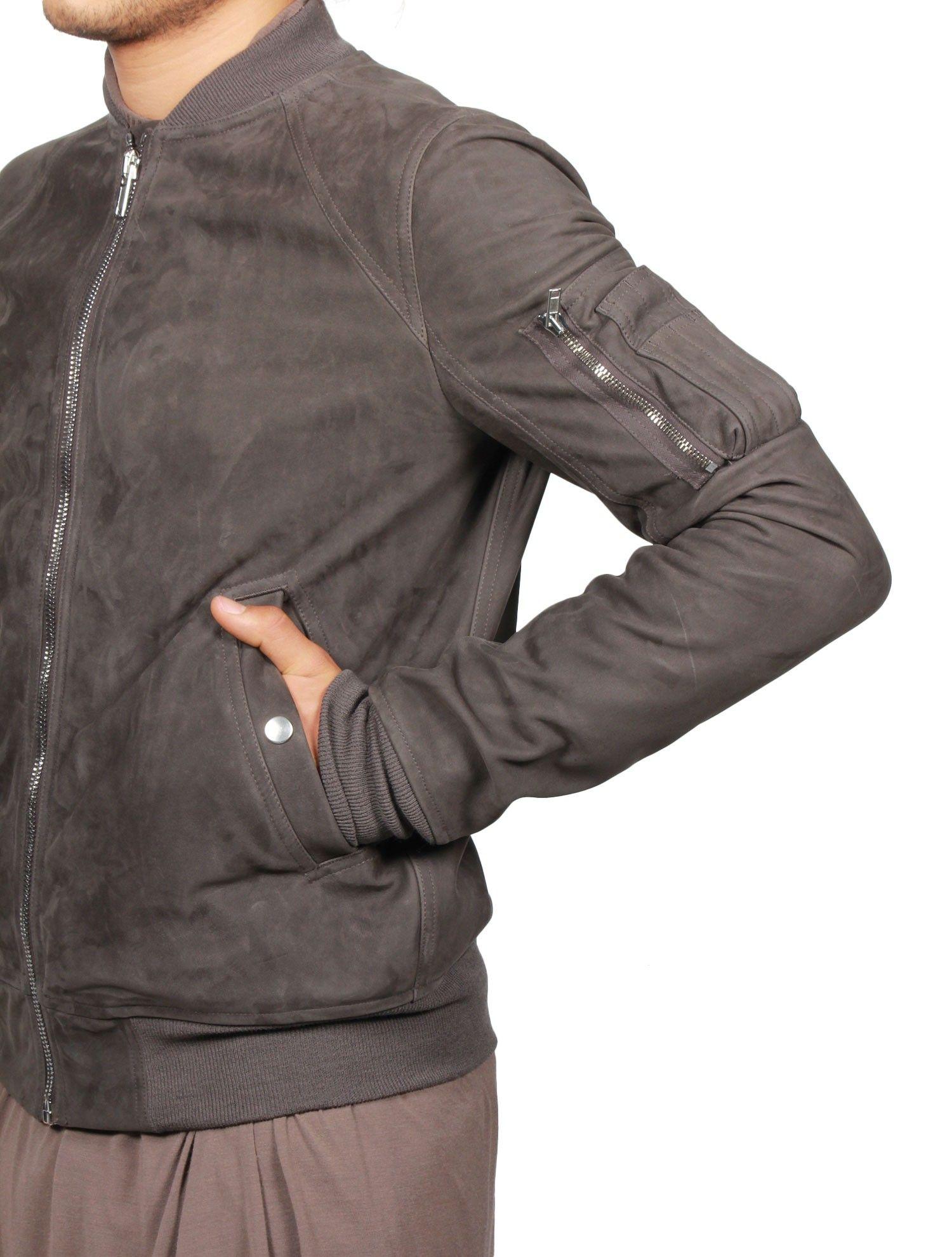 Veste cuir style rick owens