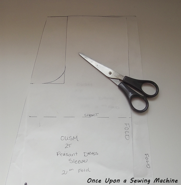 How to draft a peasant dress sleeve