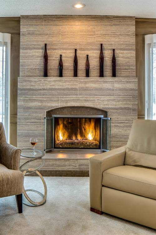 After Fireplace Living Room by Design Connection Inc Kansas