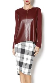 Faux Leather Front Top