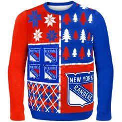 847e41b9744 New York Rangers Ugly Christmas Sweater | hockey | New York Rangers ...