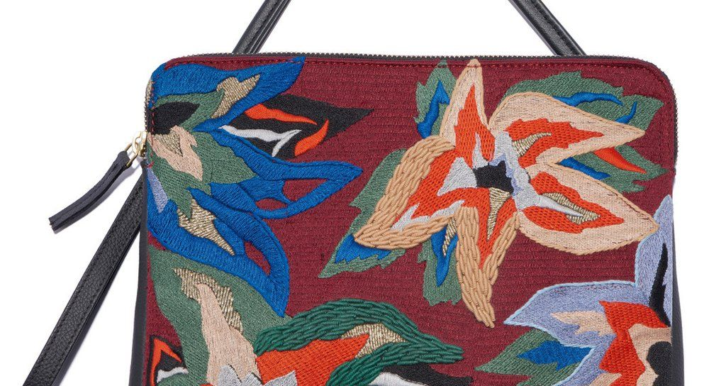 Safari Clutch In Dancing Flowers | Lizzie Fortunato