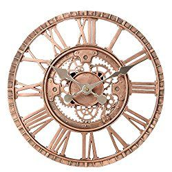 Lily S Home Indoor Outdoor Wall Clock Steampunk Gear Cog Design 12 Inch Bronze In 2020 Outdoor Wall Clocks Steampunk Clock Clock